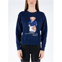 POLO RALPH LAUREN maglione stampa bear donna
