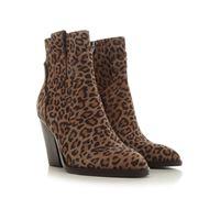 Ash stivali e stivaletti donna, marrone leopardo, pelle scamosciata, 2021, 36 37 38 39 40 41