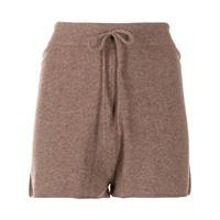 Loulou Studio shorts con coulisse - marrone