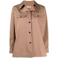 Alberto Biani giacca-camicia - marrone