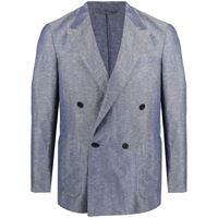 Caruso blazer sartoriale doppiopetto - blu