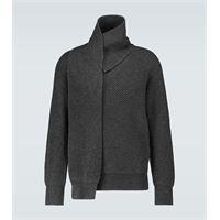 Alexander McQueen pullover in lana con scialle