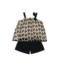 YELLOWSUB top in viscosa e shorts in cotone