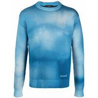 Alanui maglione dusty road - blu