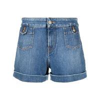 Jacob Cohen shorts denim con risvolto - blu