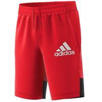 "Adidas - shorts pantaloncini b-bos rosso unisex-bambini e ragazzi "" essentials"""