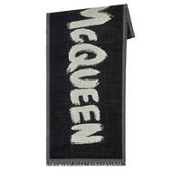 ALEXANDER MCQUEEN foulard in lana con logo