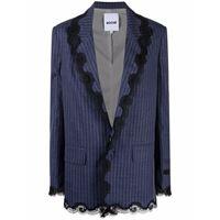 Koché blazer gessato monopetto - blu