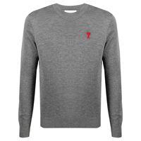 AMI Paris maglione a girocollo ami de cœur - grigio