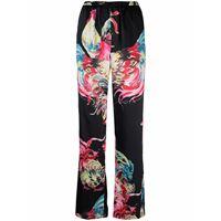MSGM pantaloni con stampa - nero