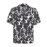 AMIRI camicia playboy in twill di seta stampata