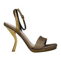 Christian Dior sandali dsculpture donna tessuto oro bronzo 38.5