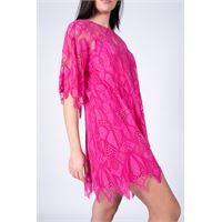 Pink Memories - abito corto in pizzo fucsia donna 11049 30