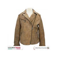 Leather Trend Italy chiodo biker baby in vera pelle di agnello per bambina