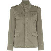 ANINE BING giacca stile militare - verde