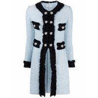 Charlott cappotto con ruches - blu