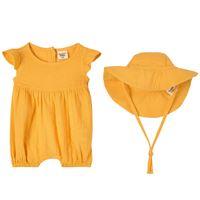 Buddy & Hope - set pagliaccetto giallo - bambina - 62/68 cm - giallo