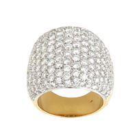 Crivelli anello fascia oro giallo diamanti crivelli