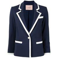TWINSET blazer monopetto con rivolti a punta - blu
