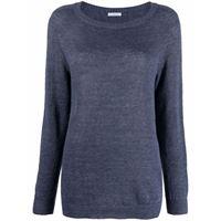 Malo maglione con scollo a u - blu