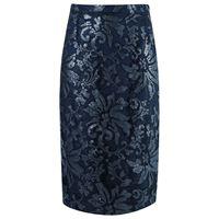 Gloria Coelho lace midi skirt - blu