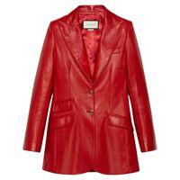 GUCCI blazer donna 629201xn3366460 pelle rosso