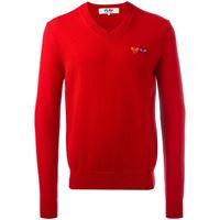 Comme Des Garçons Play logo patch jumper - rosso