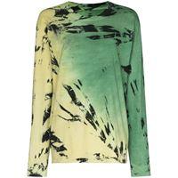 Come Back As A Flower t-shirt con fantasia tie dye - verde