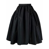 Alexander McQueen high-waisted full midi skirt - nero