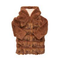 CHLOÉ cappotto in eco pelliccia con cappuccio