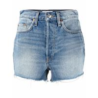 RE/DONE shorts denim a vita alta - blu
