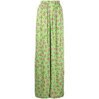 Natasha Zinko pantaloni a gamba ampia - verde