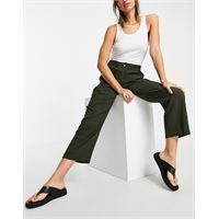 Whistles - pantaloni casual in verde kaki in coordinato