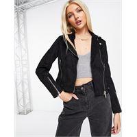 Miss Selfridge - giacca in camoscio sintetico nero