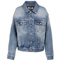MM6 Maison Margiela giacca di jeans con cut out
