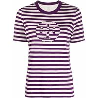 Tory Burch t-shirt a righe - viola