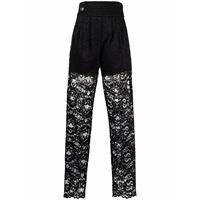 Philipp Plein pantaloni a vita alta - nero