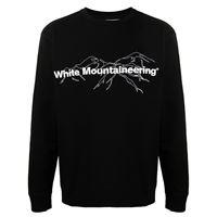 White Mountaineering felpa con stampa - nero