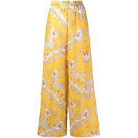 Emilio Pucci pantaloni con stampa paisley - giallo
