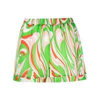 Emilio Pucci shorts vortici baby con stampa - verde