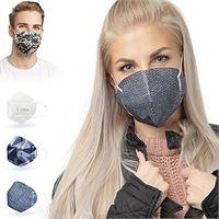 ALB Stoffe® cover. Me - 3 cover heiq-viroblock con mezza maschera, mix 3, 100% made in germany, maschere per naso e naso, confezione da 3 + 1