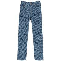 SEE BY CHLOE jeans stampa monogram 25 blu cotone, denim