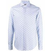 Orian camicia con stampa - blu