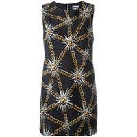 Fausto Puglisi sun and chain print dress - nero