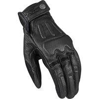 LS2 guanto moto LS2 rust man gloves black leather