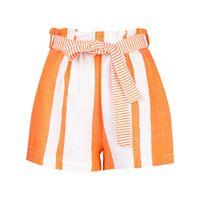 lemlem shorts zoya a vita alta - arancione