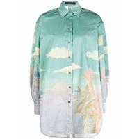 Rokh camicia con stampa - verde
