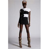 Dsquared2 donna vestito nero taglia 38 100% seta