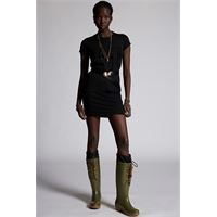 Dsquared2 donna vestito nero taglia xxs 100% cotone