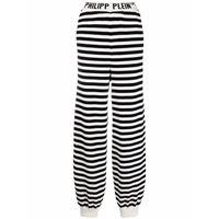 Philipp Plein pantaloni a righe - nero